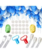 NW 1776 2 16.5ft arched garland, balloon arched tape, balloon arched garland decoration strip set, flower clip for party wedding birthday, Christmas baby gift DIY decoration