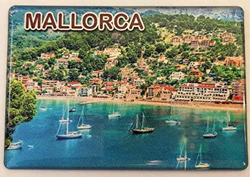 Imán para nevera Mallorca, Islas Baleares, España, Souvenir Imán para nevera Spain Fridge 070421