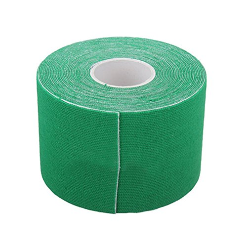 WINOMO Kinesiology Tape Sports Physio Muscle Strain Bande de support pour Uncut 5CM x 5M (vert)