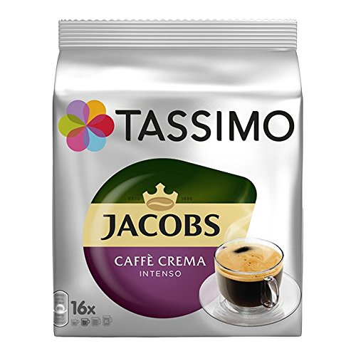 TASSIMO Jacobs Caffee Crema Intenso (80 portionen), 5er Pack