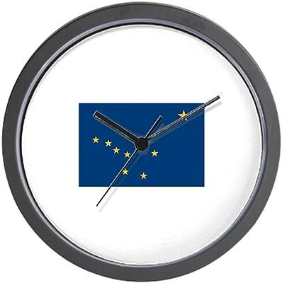 CafePress - Alaska Flag Wall Clock - Unique Decorative 10