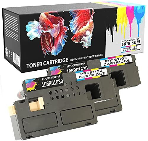 Prestige Cartridge Tóners Compatibles Alta Capacidad Reemplazo con Xerox 6000/6010/6015 Serie - Dos Negros