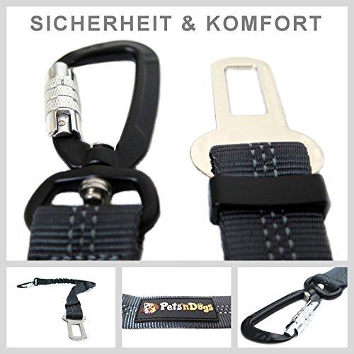 Hunde-Anschnall-Gurt inkl. extra gesichertem Profi-System-Karabiner | - 5