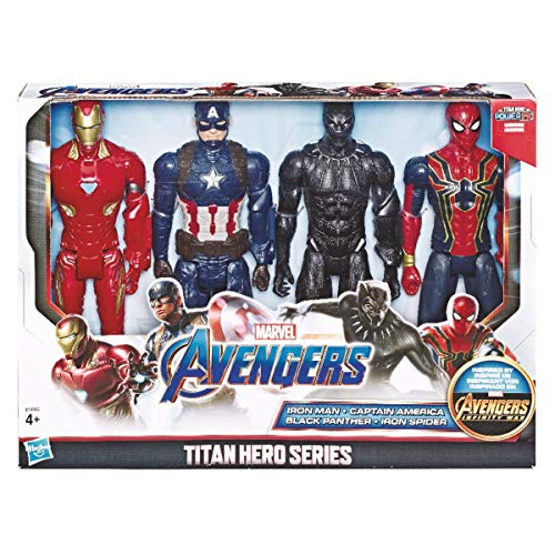 Hasbro Marvel Avengers Titan Heroes Figura, 4 Unidades