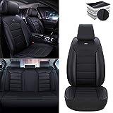 Tuqiang Fundas para asientos de coche para Nissan Altima Frontier Note Rogue Versa Pathfinder Sentra Maxima, funda de asiento impermeable de piel sintética, juego completo estándar negro