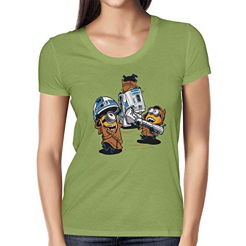 NERDO - Banana Jawas - Damen T-Shirt, Größe S, Kiwi