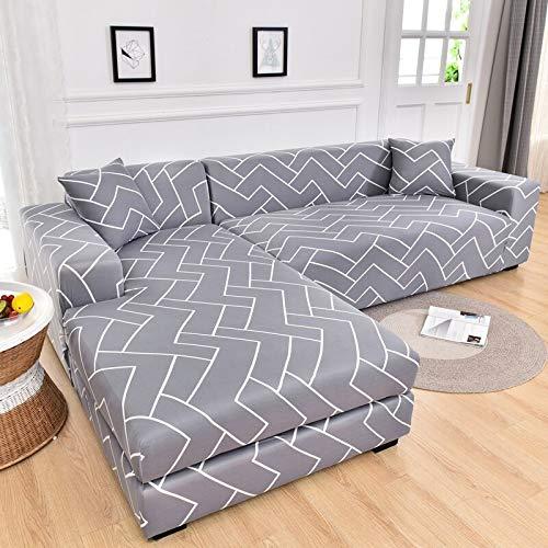 ASCV Elastische Sofabezüge für Wohnzimmer Stretchcouchbezug Sessel Schonbezug Funda Sofa Chaiselongue A6 1-Sitzer