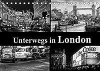 Unterwegs in London (Tischkalender 2022 DIN A5 quer): London - hochwertige schwarz-weiss Fotografien (Monatskalender, 14 Seiten )