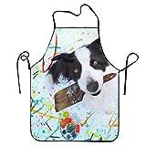 Yuanmeiju PANGERA Women Bib Animal Border Collie Dogs Colors Dog Kitchen Delantal Polyester Art Printing Style Fashion