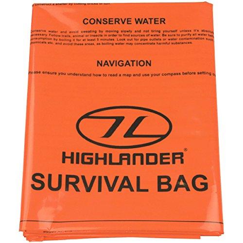 Highlander Notfallplane/-sack mit Survival Tipps, CS036