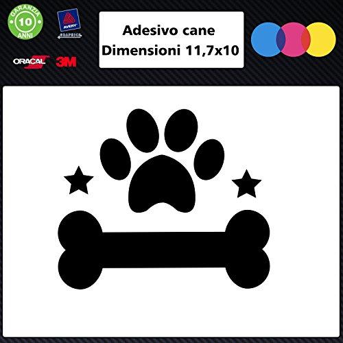Autoaufkleber – Hundehütte und Knochen – Stickereien für Hunde und Hunde – Aufkleber für Hunde – Zubehör – Aufkleber Schwarz
