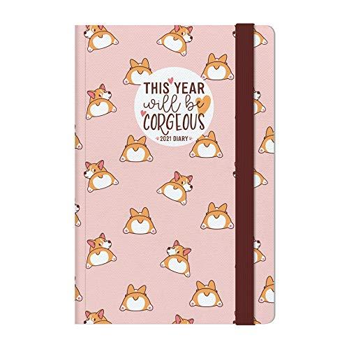 Legami - Agenda Settimanale, 12 Mesi, 2021, Medium, con Notebook, PUPPIES - 12 x 18 cm