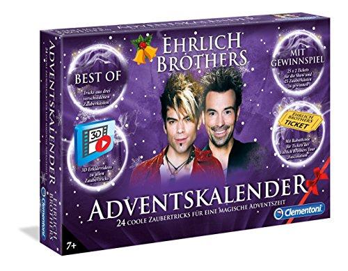 Clementoni 59084 Ehrlich Brothers Adventskalender der Magie Clementoni-59084-Ehrlich, Mehrfarben