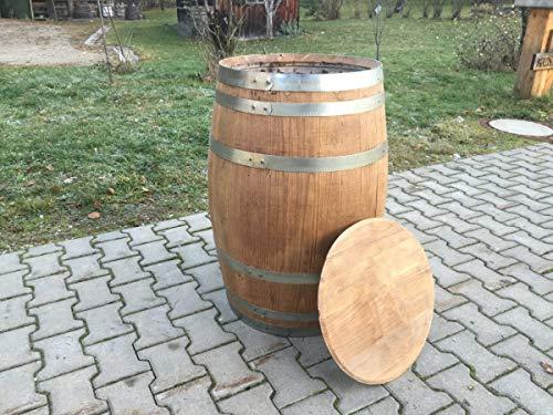 Holzfass 150 Liter gewachst und geölt Fassboden als Deckel