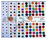 Fancy Bindis by Golden India Multi Assorted Colors Velvet Dot Bindi Tattoo 240 Stickers Adhesive Body Jewelry Z2