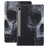 Funda para Samsung Galaxy Tab S7 / s7 Plus Scary Vintage Horrible Skull Stand Carcasa Trasera Compatible con Galaxy Tab S7 Plus Funda de Libro para Galaxy Tab S7 11 Pulgadas S7 Plus 12,4 Pulgadas