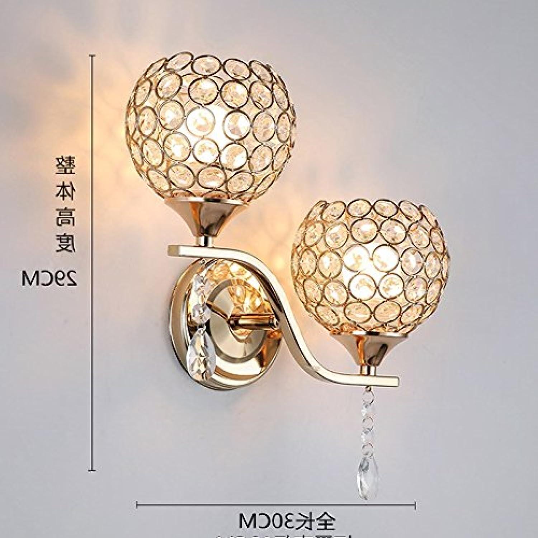 StiefelU LED Wandleuchte nach oben und unten Wandleuchten Wand Leuchte über Treppen, Wohnzimmer Wand Lampen, crystal Dual Head (rechts) +7 W-Glühlampe