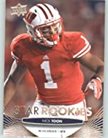 2012 Upper Deck Football Card #126 Nick Toon SR RC - Wisconsin Badgers (New Orleans Saints (Star Rookies - RC Rookie Card) NFL Trading Card