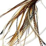 Extensiones de pelo de plumas reales