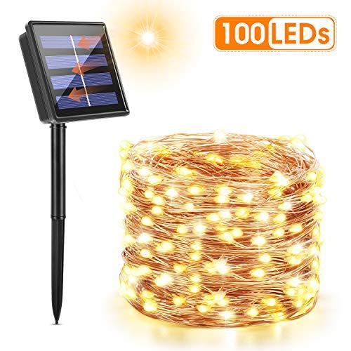 Maxsure Guirnalda Luces Exterior Solar, Luces Solares