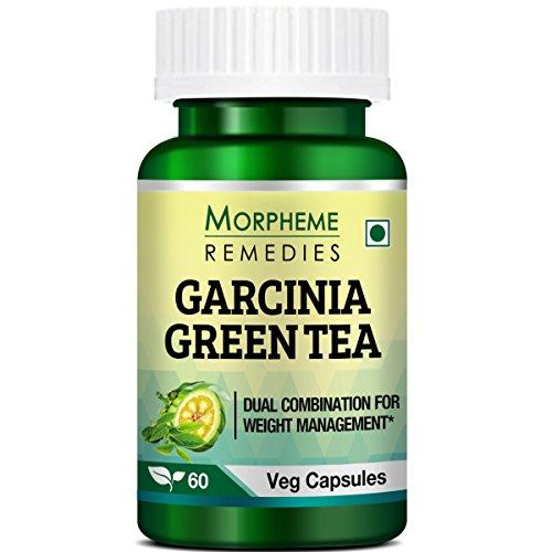Morpheme Remedies Garcinia Green Tea for Weight Management – 60 Veg Capsules