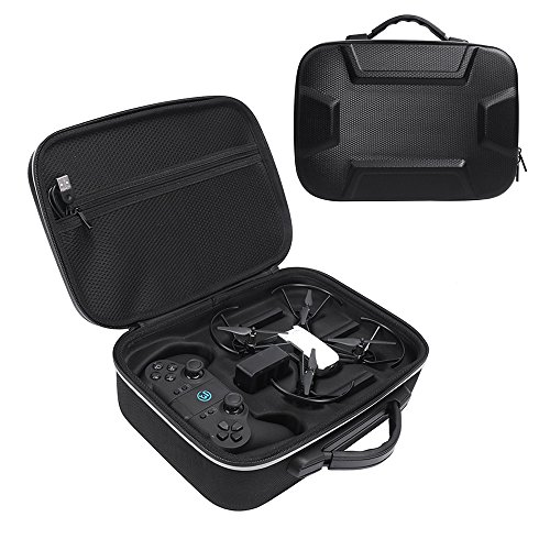 Esimen - Funda rígida de EVA para DJI Tello Carry Bag (funda protectora), color negro, Negro + Plateado