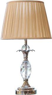 HUACANG Lámpara De Mesa De Cristal De La Cabecera Del Dormitorio Decoracion Clasica Estudio De Sala
