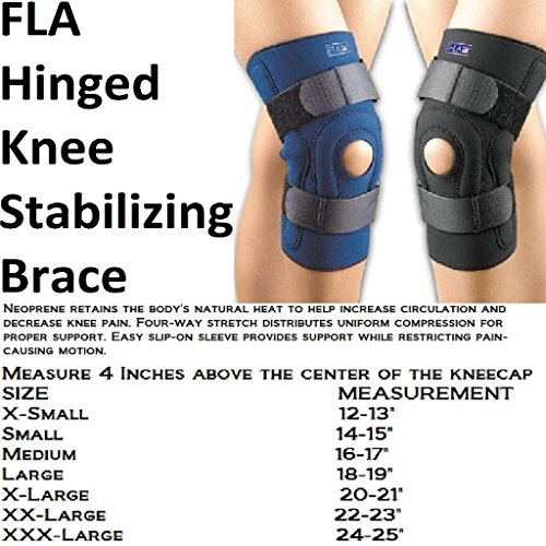hinged knee braces Safe-T-Sport Hinged Knee Brace. Neoprene. X-Small. Black