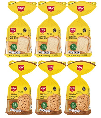 Schar Gluten Free White Bread & Multigrain Bread, 14.4 Ounce
