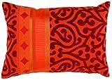 APELT Prato_35x50_30 Kissen 'Jaquardgewebe mit Ornamente', rot / orange
