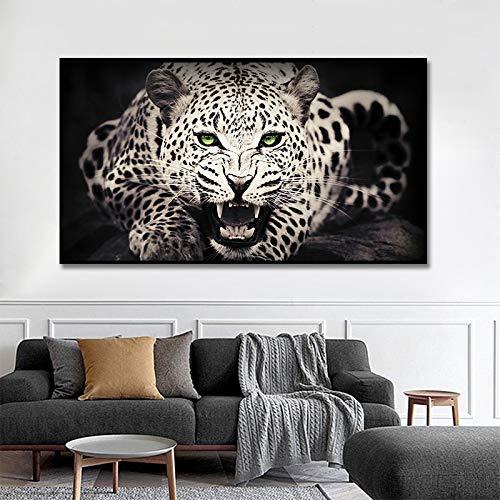 MJKLU HD Africano Animal Salvaje Rey Bestia Leopardo Enojado Cheetah Lienzo Pintura Arte de la Pared Póster Impresiones Dormitorio Sala de Estar Entrada Oficina Estudio Decoración para el hogar