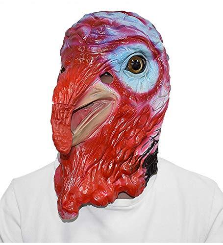YXBB Maschera in Lattice a Testa Piena di Gallo Animale Divertente Maschera in Lattice di Pollo di Gomma Animale di Ringraziamento