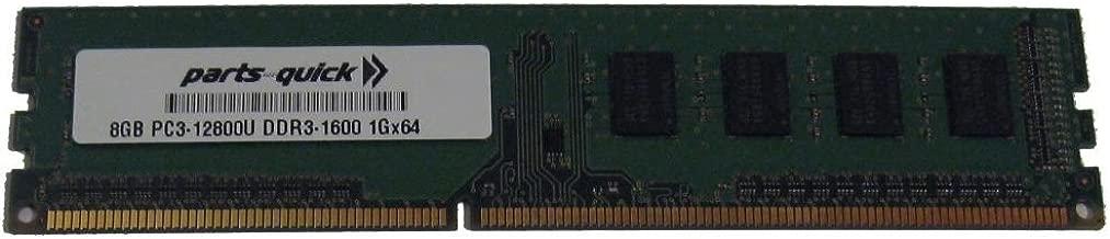 8GB DDR3 Memory for Gigabyte GA-Z77-HD3 Motherboard PC3-12800 1600MHz Non-ECC Desktop DIMM RAM Upgrade (PARTS-QUICK Brand)