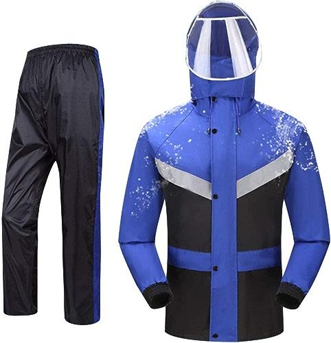 Combinaison de Plein air Split Rainwear veste 2 Piece (Top Imperméable + Pantalon Imperméable) Imperméable Anti-tempête Homme et Femme Corps Adulte Imperméable Moto Equitation