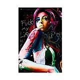 Amy Winehouse Poster auf Leinwand, Wandkunst, Poster für
