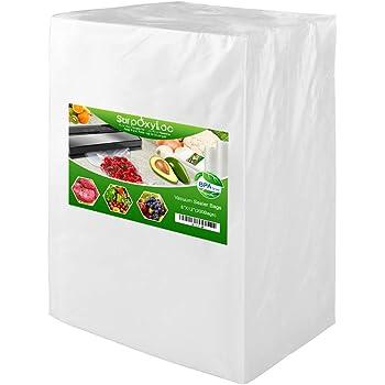 "Premium!! 200 Quart Size 8""x12""Vacuum Freezer Sealer Bags for Food Saver, Seal a Meal Vac Sealers, BPA Free, Heavy Duty Commercial Grade, Sous Vide Vaccume Safe, Upgrade Design Pre-Cut Bag"