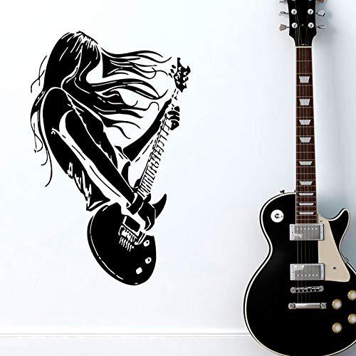 Tianpengyuanshuai Papel de Rock entusiastas de la música de Guitarra decoración de la Sala Pegatinas de Pared Pegatinas de decoración del hogar Interior -42x67cm