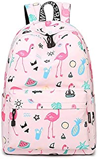 Flamingo Backpack Women Printed School Bags For Teenage Girls Shoulder Drawstring Bags Travel Students Polyester Cute Women Girl School Shoulder Bag Backpack Causal