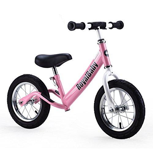 Royalbaby 12 inch Kid's Bike, Boy's Bike, Girl's Bike Balance Bike, Running Bike, Push Bike, No Pedal Bike, Pink -  Cycle Force Group, RBB9001-P