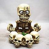 Hogar Ceniceros para Puros Resina Artesanía Cenicero, tarjeta personalizada de Halloween del diablo del demonio del vampiro Esqueleto Replica Huesos Cenicero plato de dulces for Halloween para decorac