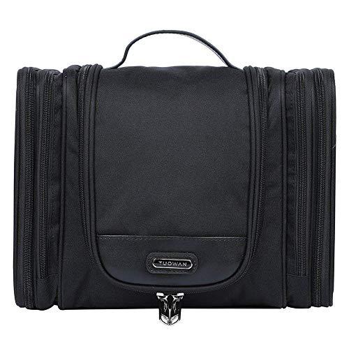 EGOGO Kulturbeutel Kulturtasche Kosmetiktasche zum Aufhängen Waschtasche Reisetasche mit Vielen Fächern für Herren und Damen E528-5 (Schwarz)