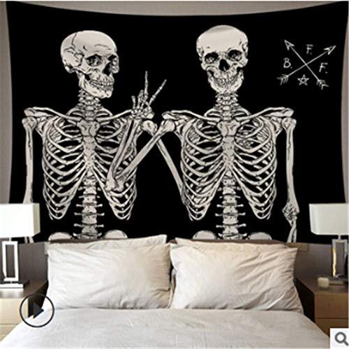 KHKJ Tapices de Sol y Luna para Colgar en la Pared Buring Sun Tapiz psicodélico decoración del hogar A6 150x130cm