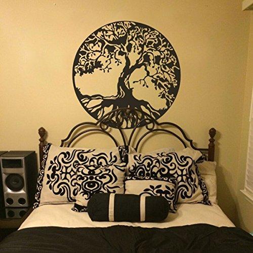 MairGwall Wandtattoo Naturdekoration Baum, Wandaufkleber alter keltischer Baum des Lebens, Wandgrafik, Schlafzimmer, Vinyl, Vinyl, schwarz, 36