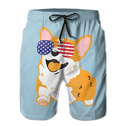 Mens Swim Trunks Best Jack Russell Terrier Quick Dry Beach Board Shorts with Mesh Lining