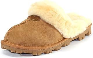 澳大利亚 UGG Grand DownUnder 棉拖鞋室内拖鞋 女款冬季防滑拖鞋 (CHES 栗色, 38)