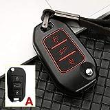 YXSMBP Alliage de Zinc + Silicone clé de Voiture Couvercle du boîtier à Distance , pour Peugeot 3008 5008 208 301 307 308 408 508 2008 4008 Support de Couvercle de clé de Protection