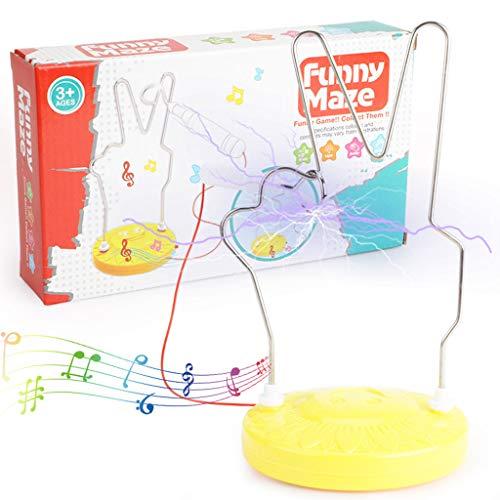 DDPHC La Inteligencia del Juguete, Instrumento Musical de la Inteligencia Stroke electromagnética Laberinto Juguete, Adecuado para niños Mayores de 3 años,A