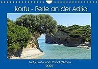 Korfu - Perle an der Adria. Natur, Kultur und Canal D'Amour (Wandkalender 2022 DIN A4 quer): Die gruene Insel Griechenlands. (Monatskalender, 14 Seiten )