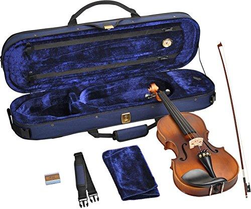 Steinbach 4/4 Geige im SET, Ebenholzgarnitur, angeflammter Boden