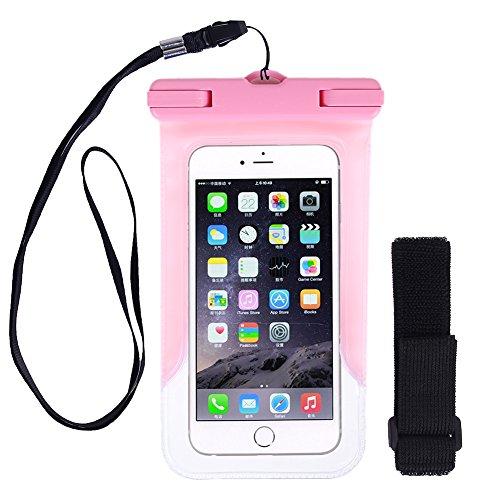 Kottle Custodia Universale Impermeabile per iPhone 6s Plus/6S/6/6 Plus, Samsung Galaxy S6/S6 Edge, ideale fino a 5.5 Cellulari, polvere/neve/Custodia impermeabile, Certificazione IPX8 a 65 Feet, rosa